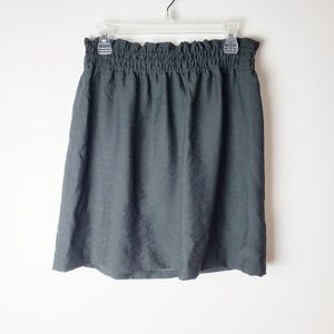 J. Crew Crinkle City Charcoal Gray Skirt Size 2